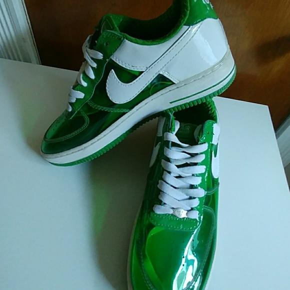 Nike Air Force 1 id Clear Options Size 12 Green Wh.  M 5b09ce203afbbd504cc6c460 7a323e8ac